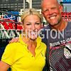 Photo by Tony Powell. NBC-4 Sports Anchor Lindsay Czarniak, Kastles Coach Murphy Jensen. Kastles VIP Reception. Kastles Stadium. July 7, 2010